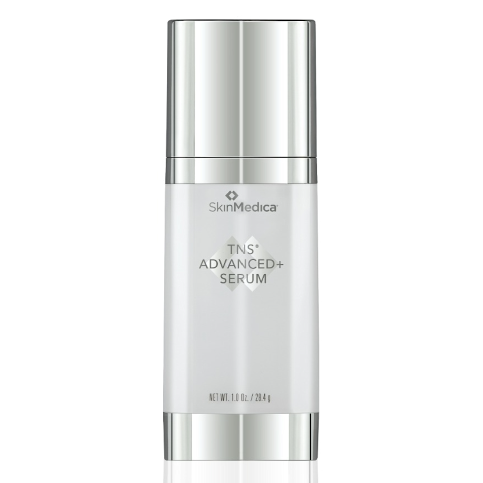 """Prather has noticed that newer, more technology-driven serums are starting to focus on elastin and collagen, which is one of the reasons SkinMedica TNS Advanced+ Serum, an update to the long-loved TNS Essential Serum, has become so popular in her Texas practice. """"The new formulation feels silky and smooth on your skin and provides a powerful combination of growth factors and plant-based antioxidants to boost collagen and elastin."""""""