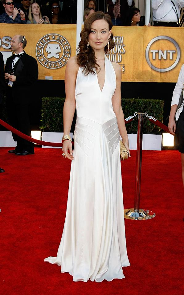 """WORST: <a href=""""http://movies.yahoo.com/movie/contributor/1808489542"""">Olivia Wilde</a> at the 15th Annual Screen Actors Guild Awards in Los Angeles - 01/25/2009"""