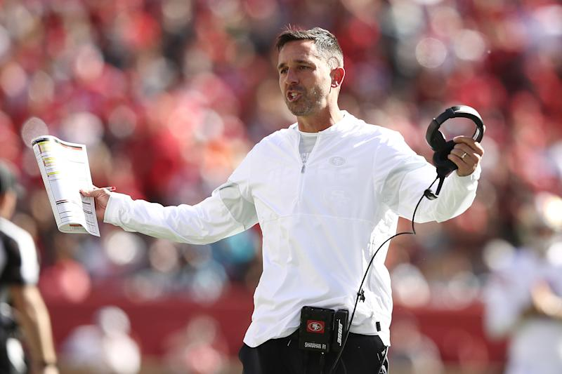 Kyle Shanahan has the 49ers off to an undefeated start. (Getty Images)