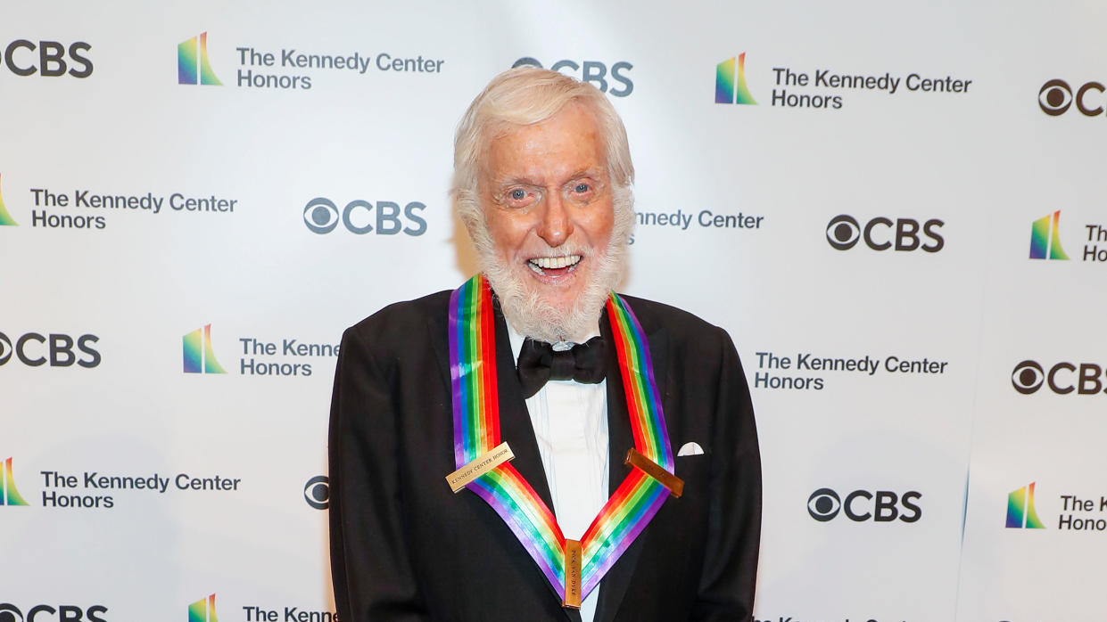 Dick Van Dyke hopes he gets to make the trip to Buckingham Palace to receive a knighthood from the Queen. (Paul Morigi/Getty Images)