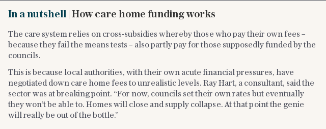 In a nutshell | How care home funding works