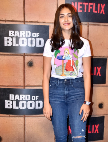Mrunal Thakur at the premiere of Netflix's Bard of Blood.