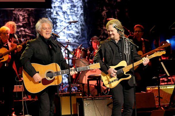 PHOTO: Marty Stuart and Travis Tritt perform onstage during the 2019 Country Music Hall of Fame Medallion Ceremony at Country Music Hall of Fame and Museum on Oct. 20, 2019, in Nashville, Tenn. (Terry Wyatt/Getty Images)
