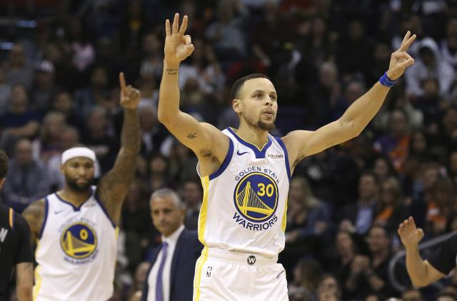 Stephen Curry knows how to hit some threes. (AP Photo)
