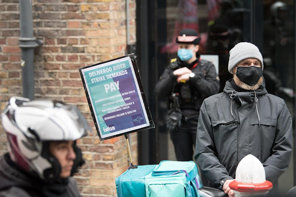In July, the Court of Appeal ruled that Deliveroo riders are not workers and therefore not entitled to collective bargaining rights (Stefan Rousseau/AP) (PA Wire)