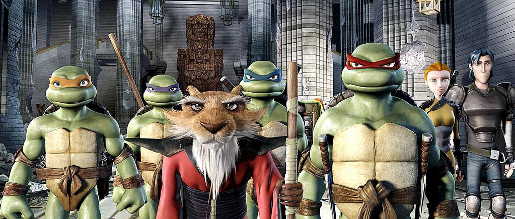 """DOWN — '<a href=""""http://movies.yahoo.com/movie/1808719771/info"""" target=""""_blank"""" rel=""""nofollow"""">TMNT</a>' (2007): Yet another misstep. In this CGI-animated movie, Gellar voiced the Teenage Mutant Ninja Turtles' human pal April. The whole thing was dizzyingly awful, but Gellar's voice wasn't to blame. However, she followed it up with the equally forgettable """"<a href=""""http://movies.yahoo.com/movie/1809709313/info"""" rel=""""nofollow"""">Happily N'Ever After</a>,"""" in which she played Cinderella. Perhaps she should think Disney or Pixar next time she goes to do a voice in a cartoon."""