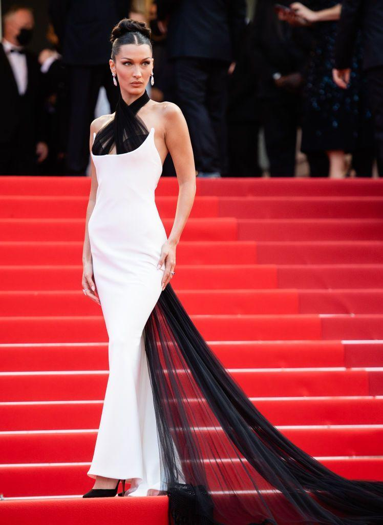 <p>The supermodel opted for a vintage Jean Paul Gaultier dress, first worn by Naomi Campbell on the SS02 Haute Couture runway. </p>