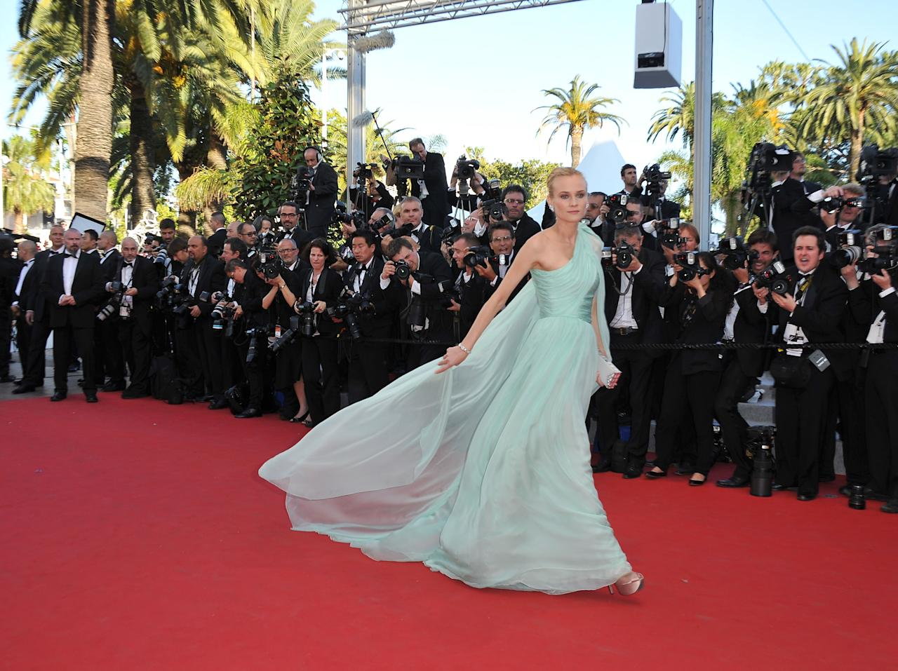 "CANNES, FRANCE - MAY 16: Jury member Actress Diane Kruger attends opening ceremony and ""Moonrise Kingdom"" premiere during the 65th Annual Cannes Film Festival at Palais des Festivals on May 16, 2012 in Cannes, France.  (Photo by Pascal Le Segretain/Getty Images)"