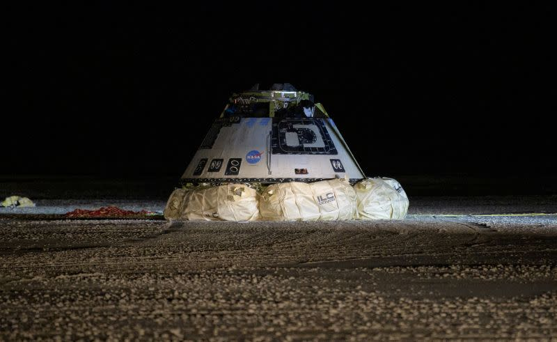 'Bull's-eye' landing caps Boeing's faulty astronaut capsule test mission