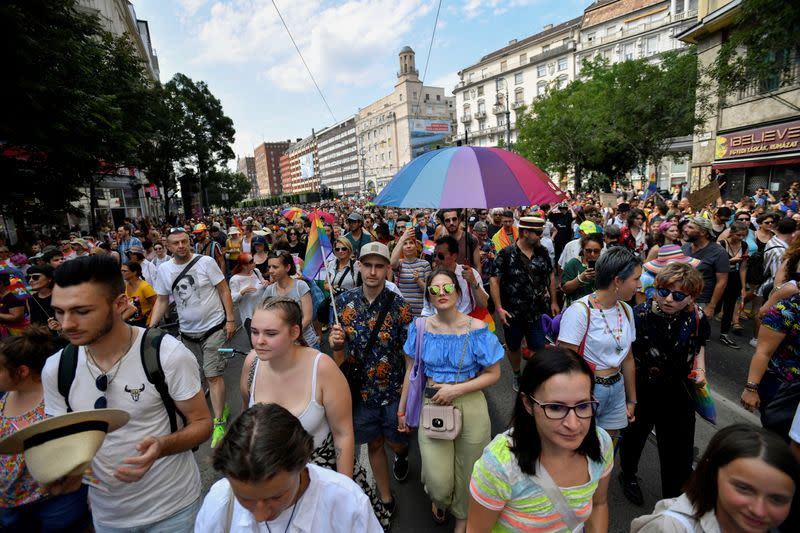 Pride march in Budapest