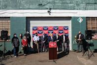 Giuliani's press conference in the Four Seasons Total Landscaping parking lot in Philadelphia on November 7, 2020 to push baseless claims of election fraud on behalf of President Donald Trump was widely mocked