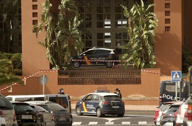 The hotel has been placed in quarantine after an Italian doctor staying there tested positive for the coronavirus (Picture: AP)