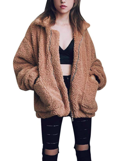 Women's Faux Shearling Coat (Photo via Amazon)