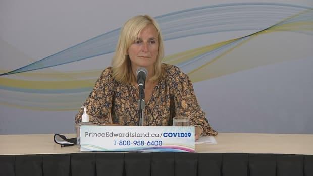 Dr. Heather Morrison said Monday there were three new cases at West Royalty Elementary and one new case at Charlottetown Rural High School. (CBC - image credit)