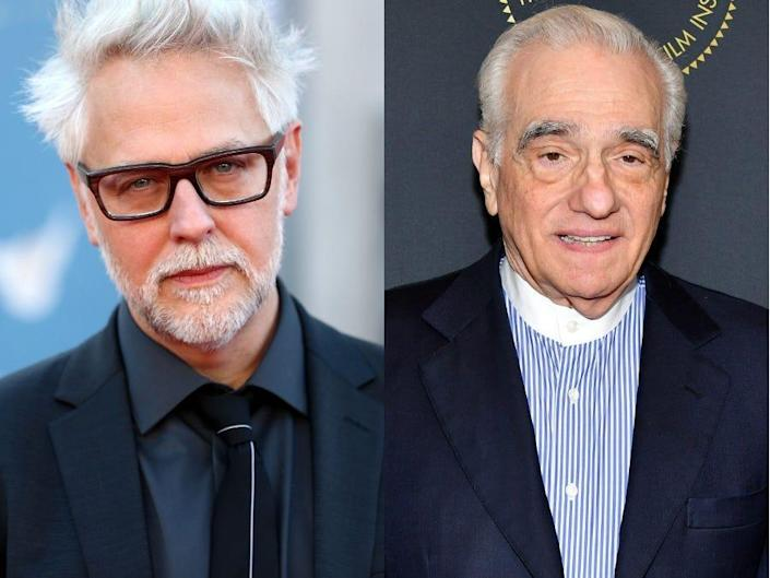 James Gunn and Martin Scorsese side-by-side