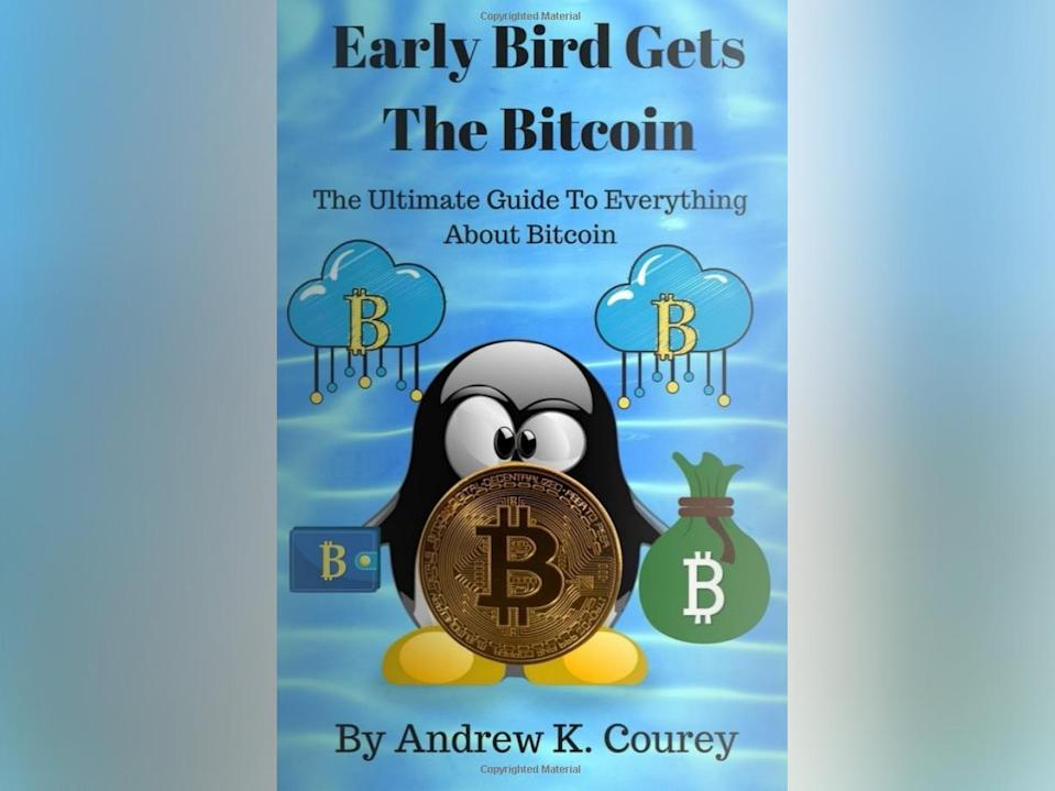 The 57-page book capitalises on its author's interest in cryptocurrencies, inspired by hours spent studying YouTube videos (Andrew K. Coury/Amazon)