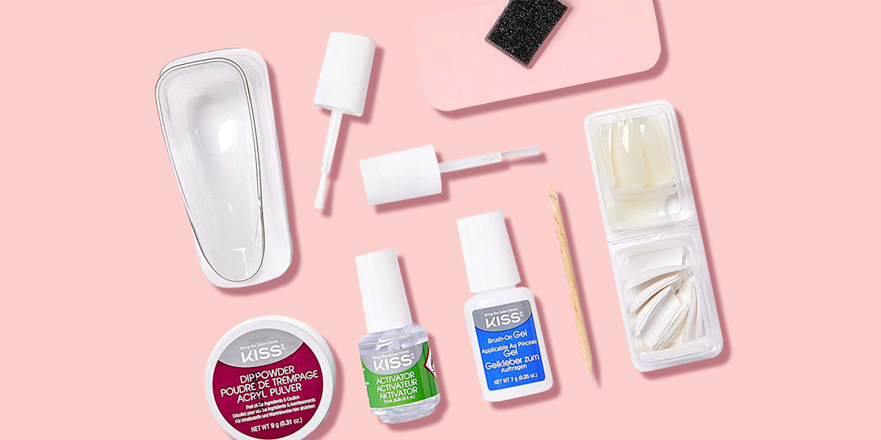 """<p>At-home <a href=""""https://www.goodhousekeeping.com/beauty/nails/a33451/nail-shapes-and-names-manicure/"""" target=""""_blank"""">manicures</a> can save you a lot of money, but regular <a href=""""https://www.goodhousekeeping.com/beauty/nails/g27437679/best-nail-polishes/"""" target=""""_blank"""">nail polish</a> chips within days of application. That's why brands have started to sell at-home gel kits that promise long-lasting salon-quality <a href=""""https://www.goodhousekeeping.com/beauty/nails/tips/a25700/history-of-manicures/"""" target=""""_blank"""">manicures</a> for a fraction of the price. <a href=""""https://www.goodhousekeeping.com/beauty/nails/tips/a20077/gel-manicure-without-lights/"""" target=""""_blank"""">Gel polish</a> kits have taken over the market, but now there is a new-ish (maybe even better) at-home manicure method: dip powder nail kits. <strong><br></strong></p><p><strong>What is a dip powder manicure?</strong> It's a long-lasting manicure that doesn't use UV light to harden. The color comes from dipping your nails into a pigmented powder, rather than painting on streaks of liquid. The result is a flawless, even coat, usually only achieved by professionals — until now. </p><h2>Are powder dipped nails better than gel?</h2><p>The biggest difference between gel and dip powder is longevity. <strong>Dip powder manicures can last up to a month</strong>, <strong>which is twice as long as gel nail polish. </strong>Also, dip powder manicures don't require light curing lamps. That means you won't have a bulky nail lamp taking up space in your closets or drawers, and you won't have to deal with UV exposure.<br></p><h2>How do you apply dip powder nail polish at home?</h2><ul><li><strong>Prep the nail </strong>by pushing the cuticles back and filing the nail into your desired shape. </li><li><strong>Use a cleanser </strong>to remove oil and dirt from the nail bed. </li><li><strong>Apply a base coat</strong> to the nail once nails are clean and dry.</li><li><strong>Dip into powder color</strong> and"""