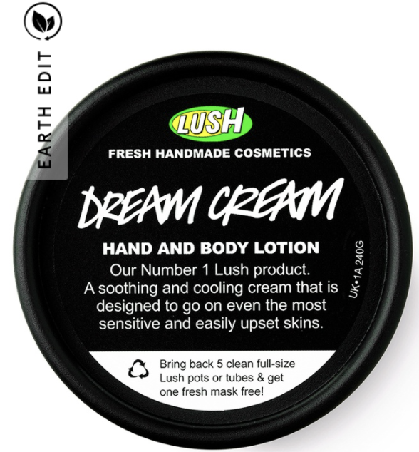 PHOTO: Zalora. Lush Dream Cream Self Preserving Body Lotion 45g