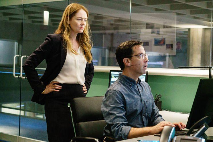 Miranda Otto as Rebecca Ingram and Dan Bucatinsky as Andy Shalowitz in '24: Legacy' (Credit: FOX)