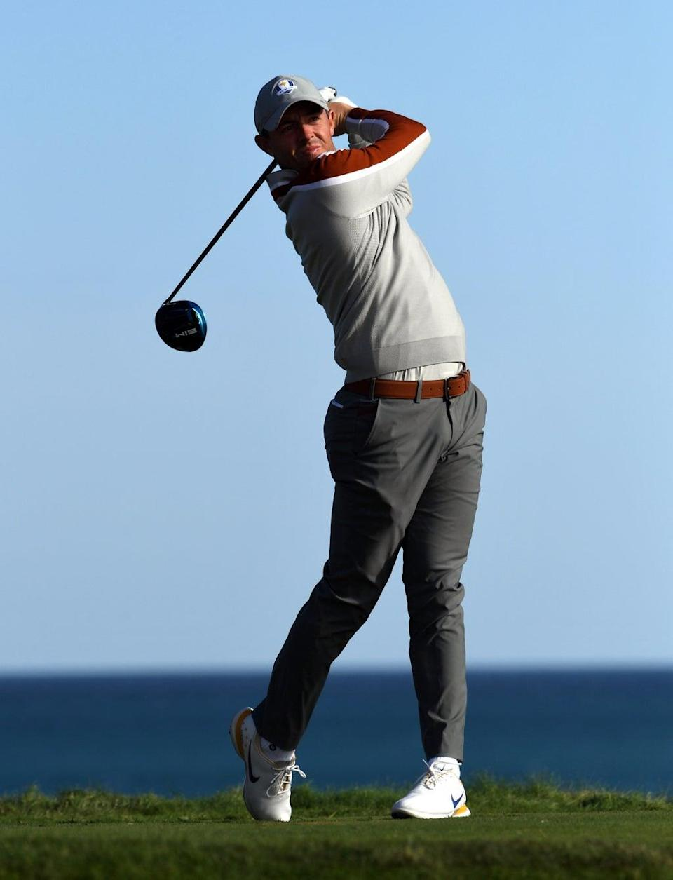Rory McIlroy got Europe off to a strong start on the final day of the Ryder Cup (Anthony Behar/PA). (PA Wire)