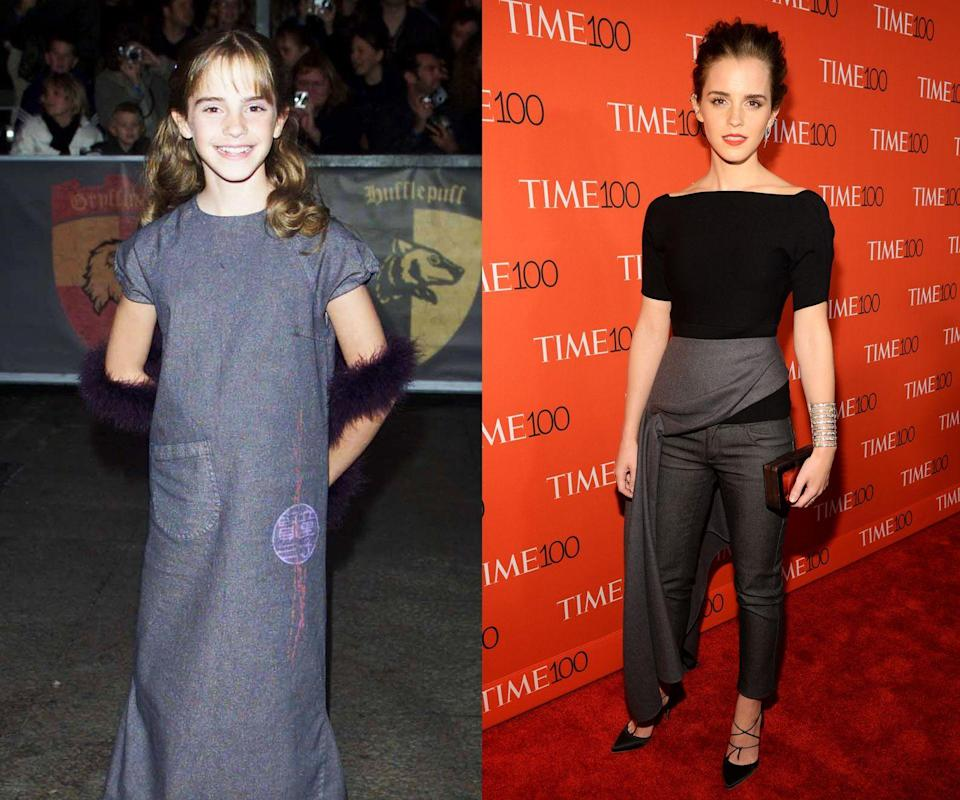 <p><em>Then: </em>At the <em>Harry Potter and the Sorcerer's Stone</em> premiere in 2001</p><p><em>Now: </em>At the 2015 TIME 100 Most Influential People In The World </p>