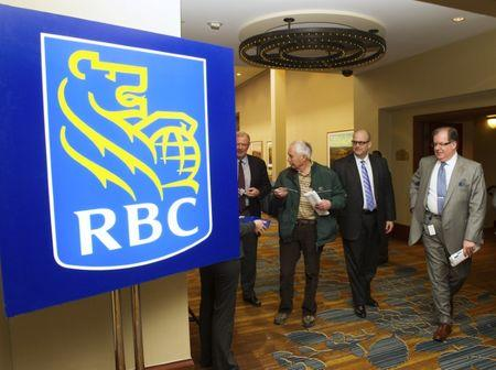 Shareholders leave the Royal Bank of Canada's Annual General Meeting in Calgary