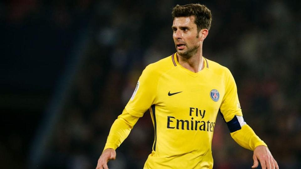 Thiago Motta é ídolo no Paris Saint-Germain. | Soccrates Images/Getty Images