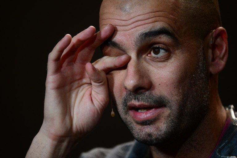 Pep Guardiola at the FIFA Ballon d'Or awards ceremony in Zurich on January 7, 2013