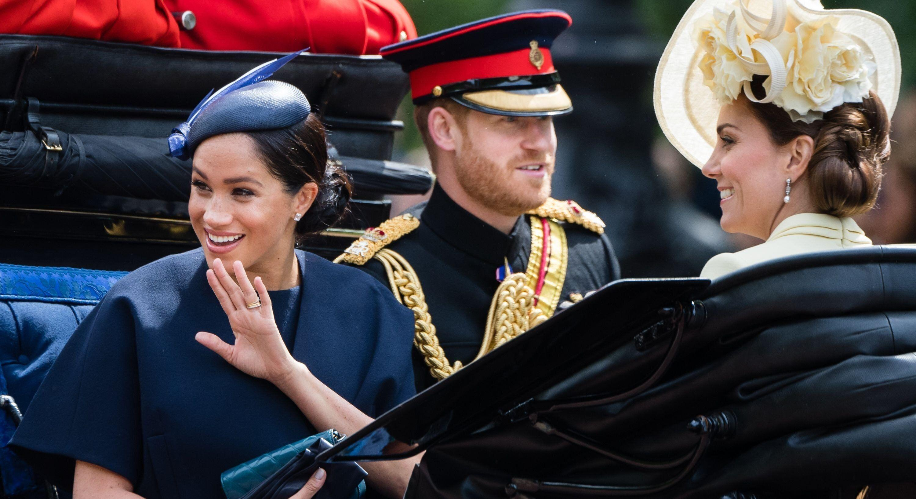 Meghan Markle wore a new ring at Trooping the Colour [Image: Getty]