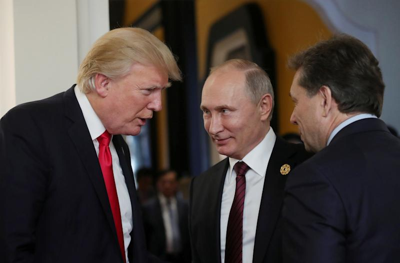 Trump chatted with Russian President Vladimir Putin last November during a summit in Danang, Vietnam. (Sputnik Photo Agency / Reuters)