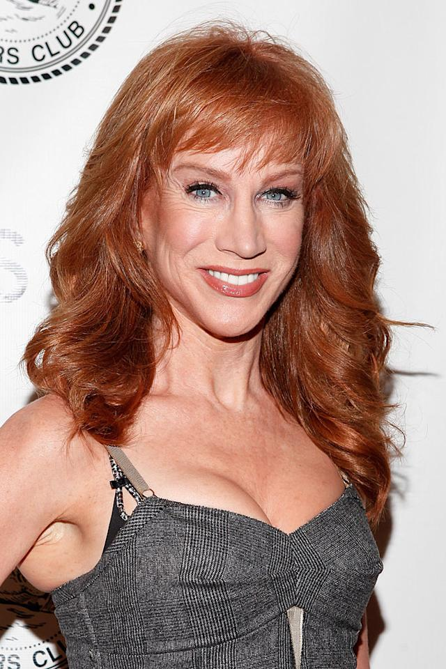 Comedienne Kathy Griffin is the ultimate fiery redhead! Though she's sported shades ranging from copper to auburn, she always picks a color that stays true to her natural ginger locks. (11/14/2011)