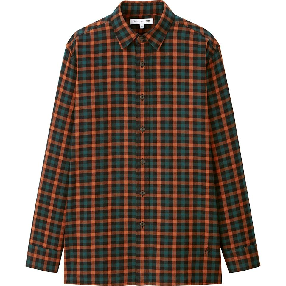 """<p>uniqlo.com</p><p><strong>$39.90</strong></p><p><a href=""""https://go.redirectingat.com?id=74968X1596630&url=https%3A%2F%2Fwww.uniqlo.com%2Fus%2Fen%2Fmen-flannel-checked-long-sleeve-shirt-jw-anderson-431731.html&sref=https%3A%2F%2Fwww.esquire.com%2Fstyle%2Fmens-fashion%2Fg34384963%2Funiqlo-jw-anderson-fall-winter-2020-collection%2F"""" rel=""""nofollow noopener"""" target=""""_blank"""" data-ylk=""""slk:Shop Now"""" class=""""link rapid-noclick-resp"""">Shop Now</a></p>"""