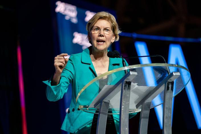 Senator Elizabeth Warren speaks at the 25th Essence Festival at Ernest N. Morial Convention Center on July 06, 2019 in New Orleans, Louisiana.   Josh Brasted—FilmMagic/Getty Images