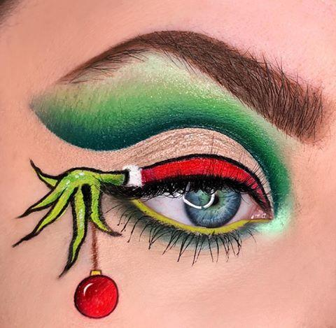 """<p>This eye art idea might not make your heart grow three sizes, but we're betting you'll get triple the compliments! Create clean lines using colorful liquid eyeliner pens.</p><p><a class=""""link rapid-noclick-resp"""" href=""""https://www.amazon.com/Eyeliner-Waterproof-Superstay-Lasting-Rechoo/dp/B07TQ56RZD/?tag=syn-yahoo-20&ascsubtag=%5Bartid%7C10050.g.34534998%5Bsrc%7Cyahoo-us"""" rel=""""nofollow noopener"""" target=""""_blank"""" data-ylk=""""slk:SHOP EYELINER SET"""">SHOP EYELINER SET</a></p><p><a href=""""https://www.instagram.com/p/B5qFiX6nBH0/?utm_source=ig_embed&utm_campaign=loading"""" rel=""""nofollow noopener"""" target=""""_blank"""" data-ylk=""""slk:See the original post on Instagram"""" class=""""link rapid-noclick-resp"""">See the original post on Instagram</a></p>"""