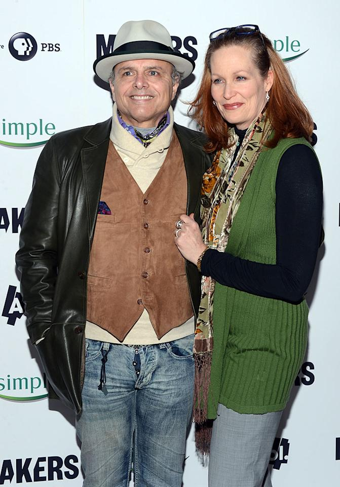 "Joe Pantoliano and guest arrive at ""MAKERS: Women Who Make America"" New York Premiere at Alice Tully Hall on February 6, 2013 in New York City."