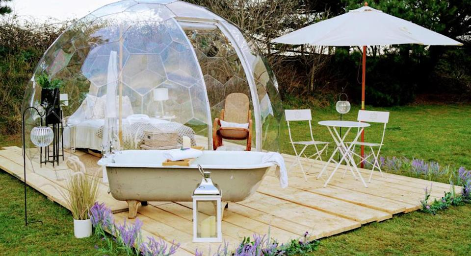 From bubble domes to fire trucks, we have found 10 unusual staycations to enjoy this summer.  (Yahoo Life UK)