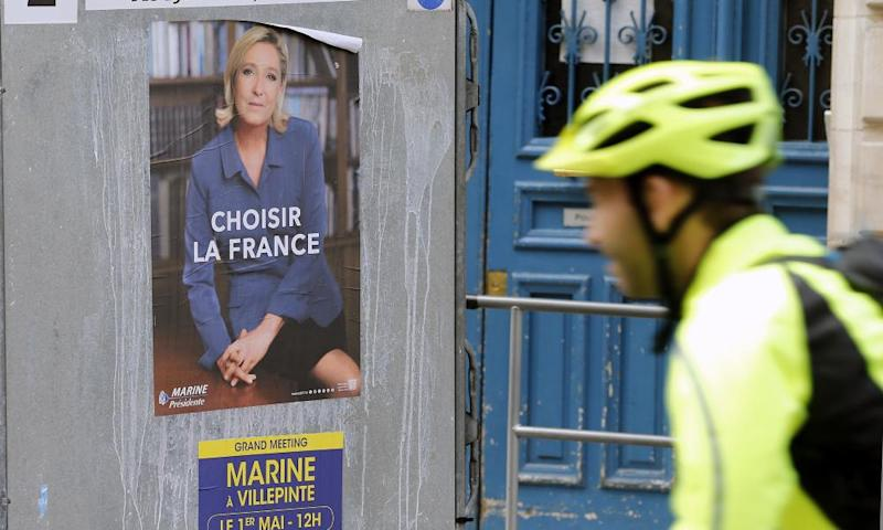 A Le Pen campaign poster in Paris.