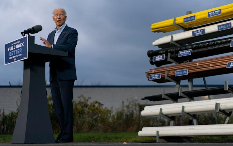 Joe Biden, pictured on the campaign trail in Pennsylvania - AP Photo/Carolyn Kaster