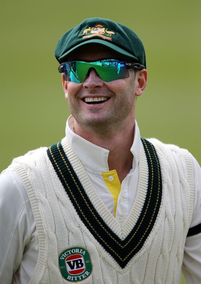 Australia captain Michael Clarke during the International Tour match at the County Ground, Taunton.