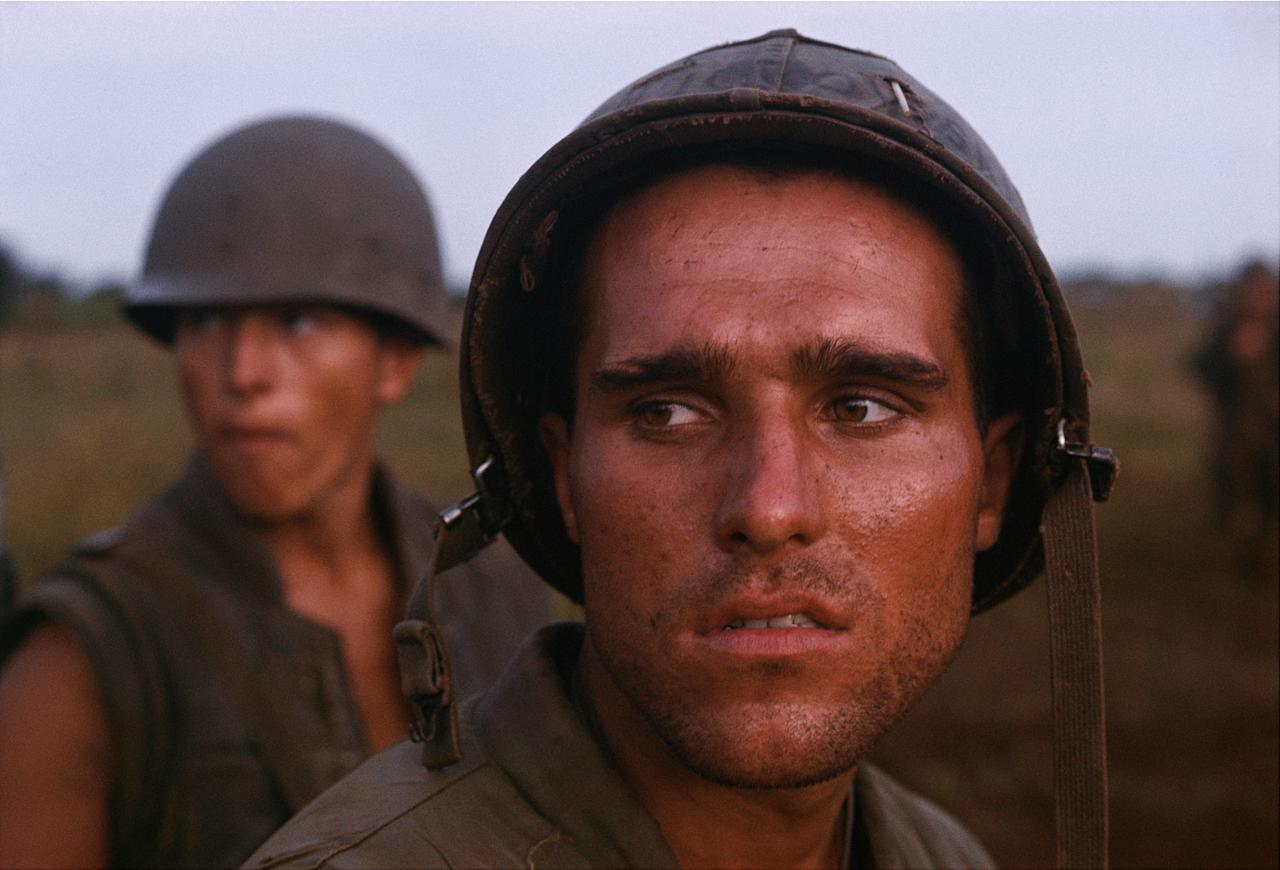 <p>U.S. Marine, near the DMZ, Operation Prairie, 1966. (Photograph by Larry Burrows) </p>
