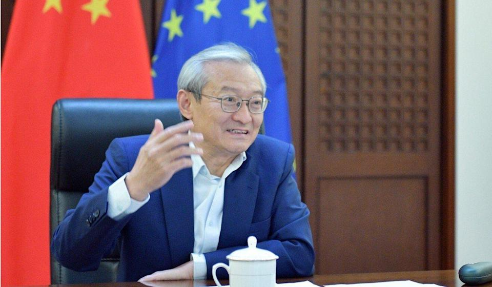 Zhang Ming, China's ambassador to the EU, urged Portugal to help speed up the review process. Photo: Handout