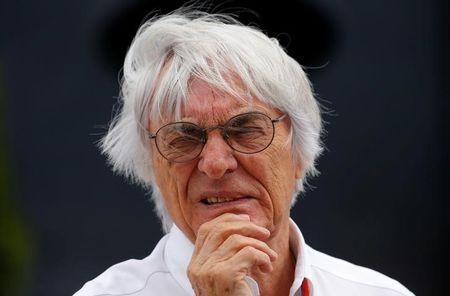 Formula One supremo Ecclestone looks on before the Hungarian F1 Grand Prix at the Hungaroring circuit, near Budapest