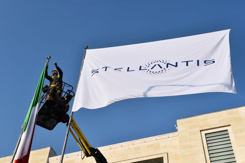 FILE PHOTO: Stellantis debuts on Milan and Paris stock exchanges