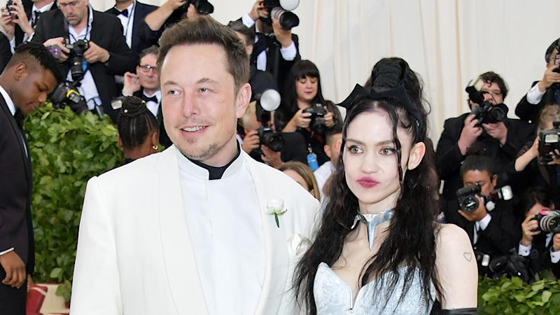 Elon Musk and Grimes have welcomed their first baby two years after taking their relationship public. Photo: Getty