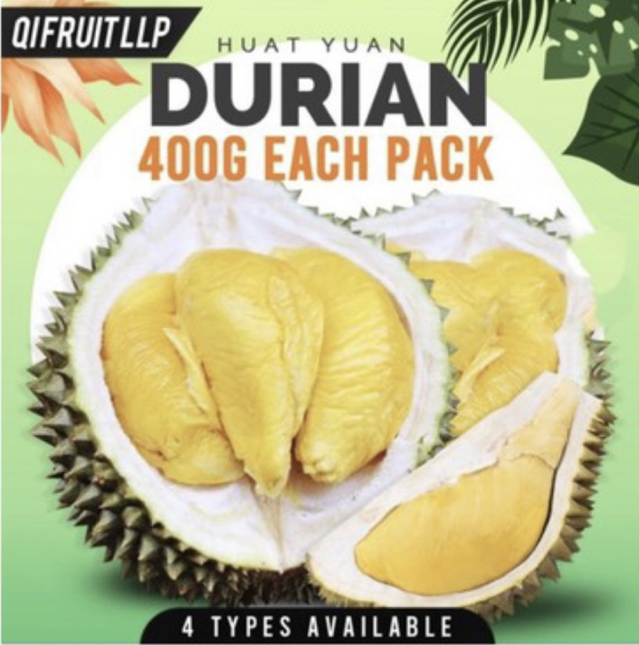 PHOTO: Shopee. [Huat Yuann] Fresh Durian Delivery, 400g