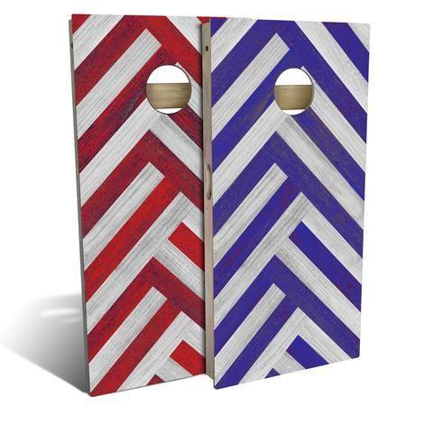"""<p>slickwoodys.com</p><p><strong>$150.00</strong></p><p><a href=""""https://www.slickwoodys.com/collections/country-living-cornhole/products/country-living-red-blue-wood-stripes-cornhole-board-set-includes-8-bags"""" rel=""""nofollow noopener"""" target=""""_blank"""" data-ylk=""""slk:Shop Now"""" class=""""link rapid-noclick-resp"""">Shop Now</a></p><p>This patriotic wooden cornhole game set will turn your father-in-law's backyard into the ultimate entertainment space.</p>"""