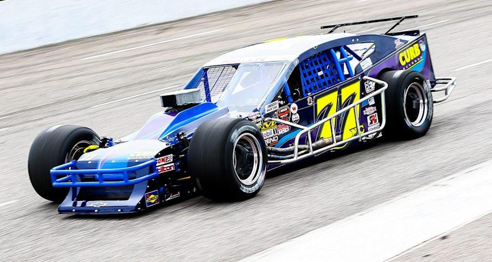 MYRTLE BEACH, SC - MARCH 16: Gary Putnam, driver of the #77 Curb Records Chevrolet, during qualifying for the NASCAR Whelen Modified Performance Plus 150 presented by Safety-Kleen on March 16, 2019 at Myrtle Beach Speedway in Myrtle Beach, South Carolina. (Adam Glanzman/NASCAR)