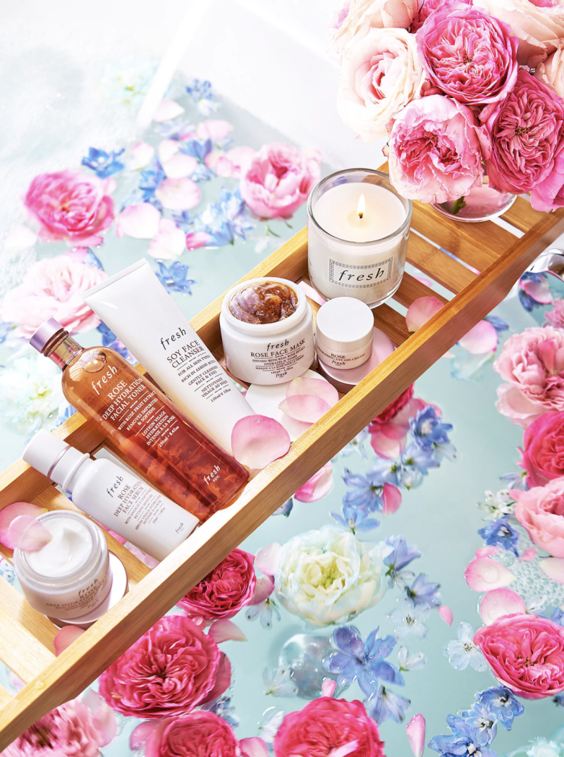 Soothing scented skincare brings an aromatherapy boost (rose, for example, is said to be uplifting). (Photo: Sephora)