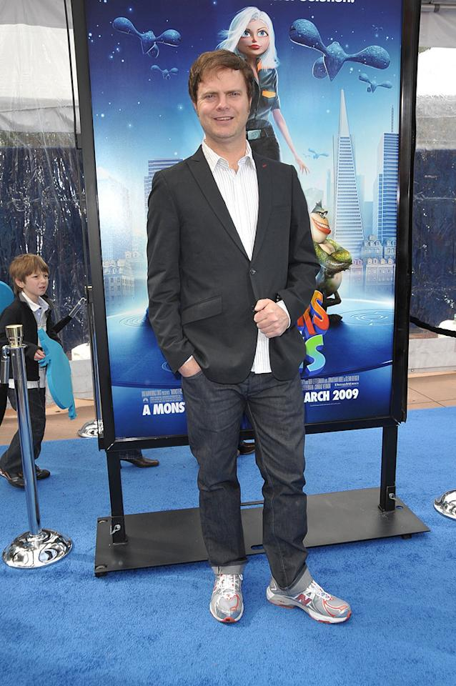 """<a href=""""http://movies.yahoo.com/movie/contributor/1804471845"""">Rainn Wilson</a> at the Los Angeles premiere of <a href=""""http://movies.yahoo.com/movie/1809918074/info"""">Monsters vs. Aliens</a> - 03/22/2009"""