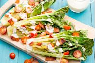 """<p>This is wedge salad living its best life.</p><p>Get the recipe from <a href=""""https://www.delish.com/cooking/recipe-ideas/recipes/a47334/grilled-romaine-caesar-wedge-recipe/"""" rel=""""nofollow noopener"""" target=""""_blank"""" data-ylk=""""slk:Delish"""" class=""""link rapid-noclick-resp"""">Delish</a>.</p>"""